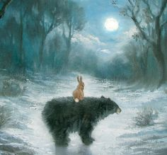 Isabella and the Bear print 6x6 inches edition