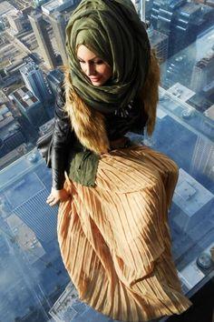 modern hijab look