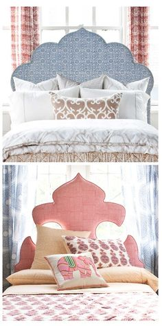 John Robshaw Textiles  I'm always on the lookout for unique headboards. Currently loving these Indian inspired headboards by John Robshaw.