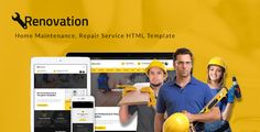 Renovation - Home Maintenance, Repair Service HTML Template . Renovation – A Home Maintenance, Repair Service HTML Template is built for either all-rounders or professional teams to introduce their services; such as electrical service, plumbing, painting, door repair, roofing, drywall or interior maintenance. This is not only a great design template but also