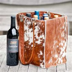 Cowhide grocery bag. Especially with the plastic bag ban, they should love me in Trader Joe's!(ha)