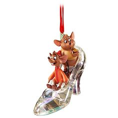 Jaq and Gus with Slipper Sketchbook Ornament | Ornaments | Disney Store | $10.50
