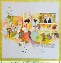 I like the color theme, how everything is in the middle and how the pictures look like they are tucked in.  By Wilna Furstenburg.