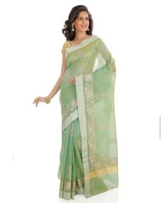 Buy Appealing Green Silk Saree online at  https://www.a1designerwear.com/appealing-green-silk-sarees-6  Price: $35.86 USD