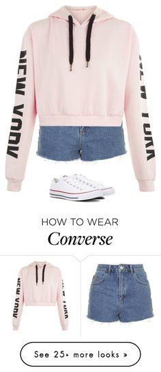 """""""Untitled #2688"""" by laurenatria11 on Polyvore featuring Topshop and Converse"""