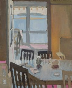 """The Porch Door,"" Fairfield Porter, 1962, acrylic on canvas, 24 x 20"", private collection."