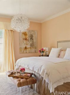 fresh and elegant. I'm wanting to incorporate peach colored paint somewhere in the house also. Laundry room maybe? idk.