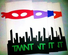 Ninja Turtle Party bags TNMT Teenage Mutant ninja by JazzyBug