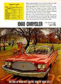 "1960 Chrysler: ""The Car of Your Life for the Time of Your Life"""