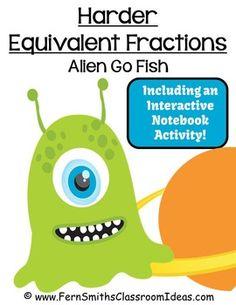Fractions activities for k 3rd grade on pinterest for Go fish game online