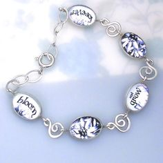 I want this unreal.   Edelweiss Flower Bracelet with Song Lyrics  by zoeymarchjewelry, $68.00