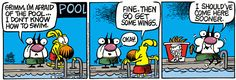 How to make swimming user friendly => Mother Goose and Grimm By Mike Peters 6/12/23