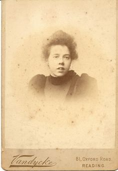 32.Young woman.Cabinet card.Photographer is V.E.Vandycke,81 Oxford Road, Reading, Berkshire. no 2681. Victor Emanuel Vandycke, I have found records of this PH in Croydon from about 1886,South Norwood from 1889, Lewisham from 1891. But no records so far in Reading.Also I cannot find any records of this chap in Census/Birth/Marriage or Death. Wonder if this was not his correct name.Found Vandycke different first name,born Germany & married UK, a Photographer,but not sure its him. Intriguing…