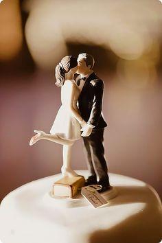 Creative Wedding Cake Topper Inspiration Ideas ❤ See more: http://www.weddingforward.com/wedding-cake-topper-ideas-inspiration/ #weddingforward #bride #bridal #wedding