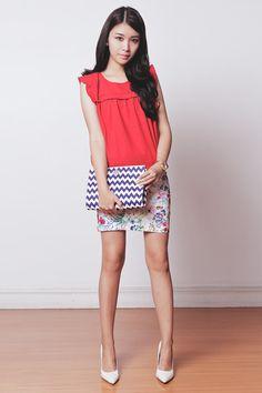 Tricia Gosingtian - Kate Katy Top, Kate Katy Skirt, Kate Spade Clutch, Sleeh Heels - 070714