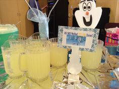 """Seriously, this was my favorite!! My card describing the lemonade, """"oh no melted yellow snow!"""""""
