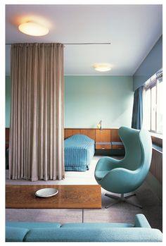 Arne Jacobsen, Room 606. Royal Hotel, SAS House, 1955-1960, Copenhagen, Denmark