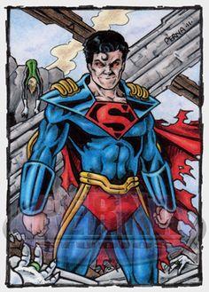 A personal sketch card commission that I drew on my own custom printed card stock. Sketch card measures x Superboy Prime The original art doe. Superboy Prime, Infinite Earths, Comics Universe, Man Of Steel, Atlantis, Cosmic, Superman, Marvel Comics, Prince