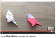 Sweet origami budgies