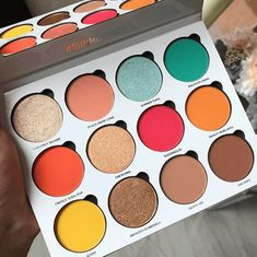 "Give Me Glow: Summer Vibes Palette History of eye makeup ""Eye care"", put simply, ""eye Skin Makeup, Eyeshadow Makeup, Makeup Cosmetics, Eyeshadows, Lipsticks, Makeup Brushes, Eyeliner, Mascara, Cute Makeup"