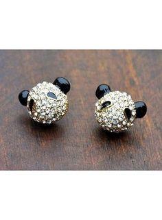 Huismerk Panda Oorbellen