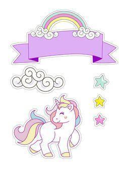 Resultado de imagem para topo de bolo unicornio