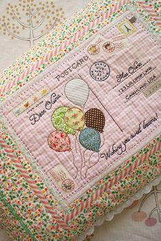 hecho a mano bordada almohada postal por nanaCompany, P116pp