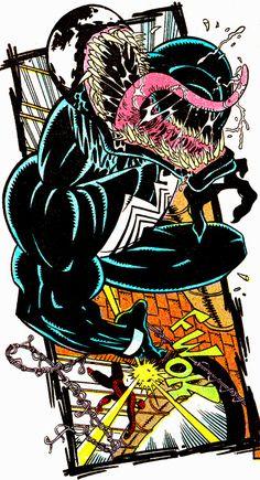 Spidey vs Venom in Amazing Spider-Man Vol. 1 #346 (April 1991) - Art by Erik Larsen, Randy Emberlin & Bob Sharen
