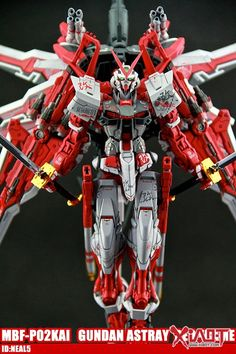 GUNDAM GUY: 1/100 MBF-P02KAI Gundam Astray Red Frame - Customized Build