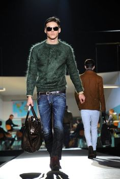 Burberry for men Boho chic fall fashion trend style tips with denim blue jeans