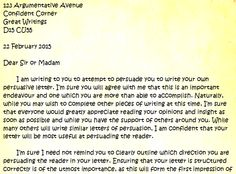 Persuasive letter about persuasive letter writing