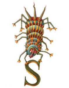 Monster – Kids Wall Art – Monster Art – Alphabet Art Poster – Alphabet Print – Monster Poster – Little Monster – Letter S Print