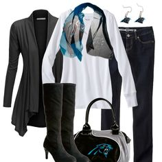 50f09be95 Style inspiration for the female Carolina Panthers Fan. Check out the  football fashion and style ideas