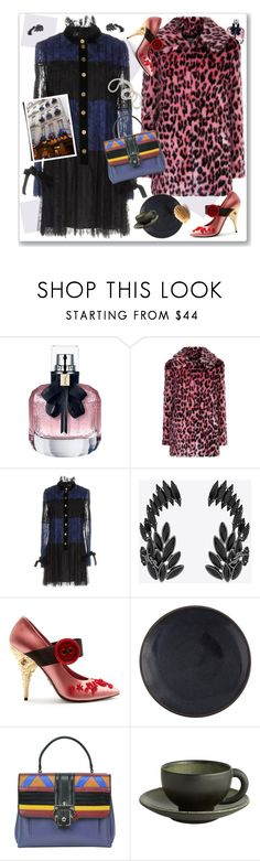 """Christmas in Paris"" by nantucketteabook ❤ liked on Polyvore featuring Yves Saint Laurent, Pinko, Prada, Jars, Paula Cademartori and Avenue Montaigne"