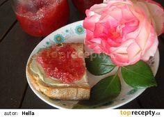 Zavařenina z růží - rose petal jam Rose Petal Jam, Rose Petals, Czech Recipes, 20 Min, Something Sweet, Preserves, Pickles, Watermelon, Frozen