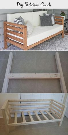 Diy Couch, Diy Furniture Couch, Diy Furniture Plans Wood Projects, Diy Outdoor Furniture, Furniture Makeover, Home Projects, Outdoor Couch, Diy Home Improvement, Diy Home Decor