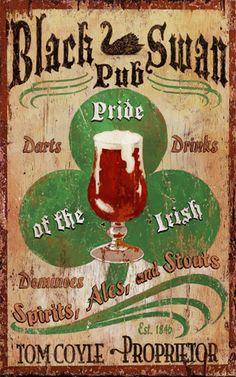 Irish pub sign from Wayfair.com.