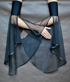 okaywowcool:  sheer bell sleeve cuffs