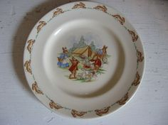 Royal Doulton Bunnykins Plate by GoodCharmVintage on Etsy
