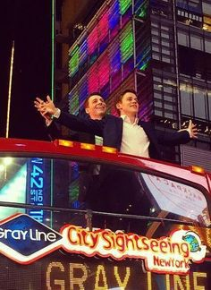 Sam Clemmett and Anthony Boyle take in NYC