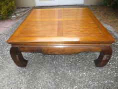 Square Ming Dynasty Coffee Table Cocktail Oriental Chinese Inlaid Top Asian
