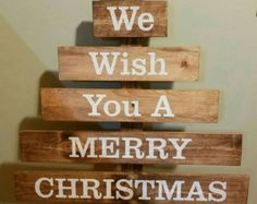 Rustic Reclaimed Wood Christmas Tree von salsfancy auf Etsy