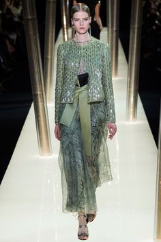 Armani Privé - Spring 2015 Couture - Extraordinary Bamboo Print, Oriental Element!