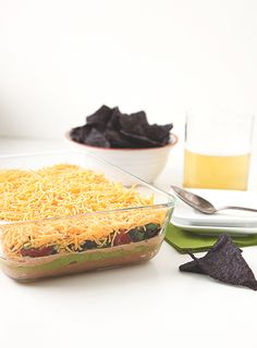 Mom's Seven Layer Dip + a secret ingredient