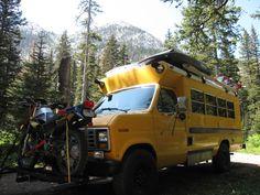 short bus camper /road tripper