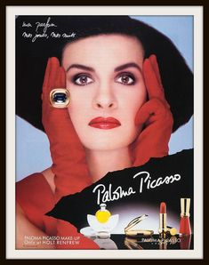 Items similar to 1991 Paloma Picasso Makeup Advertisement. Vintage Holt Renfew on Etsy Vintage Makeup Ads, Retro Makeup, Vintage Beauty, 1990s Makeup, Vintage Ads, Vintage Items, Perfume Ad, Solid Perfume, Vintage Perfume