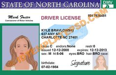 This is North Carolina (USA State) Drivers License PSD (Photoshop) Template. On this PSD Template you can put any Name, Address, License No. DOB etc and make your personalized Driver License.  You can also print this North Carolina (USA State) Drivers License from a professional plastic ID Card Printer and use as per your requirement.