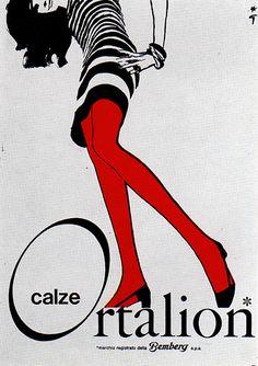 1960s.  René Gruau illustration for Ortalion.