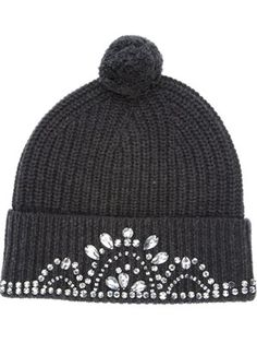 Love this: Knitted Tiara Beanie Hat Piercing, Knitted Hats, Crochet Hats, Markus Lupfer, Diy Fashion, Fashion Design, Beanie Hats, Diy Clothes, Passion For Fashion