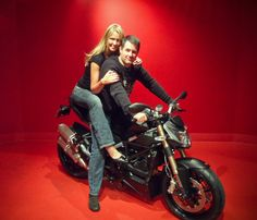 We wanted to share this adorable photo of Jeff & his lady Farrah on his brand new Streetfighter 848! #ducati #motorcycles